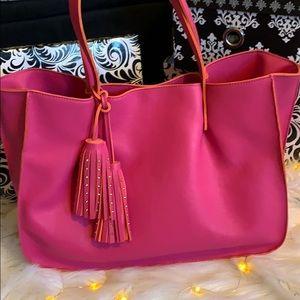 NWOT Hot pink fuchsia Buddha bag